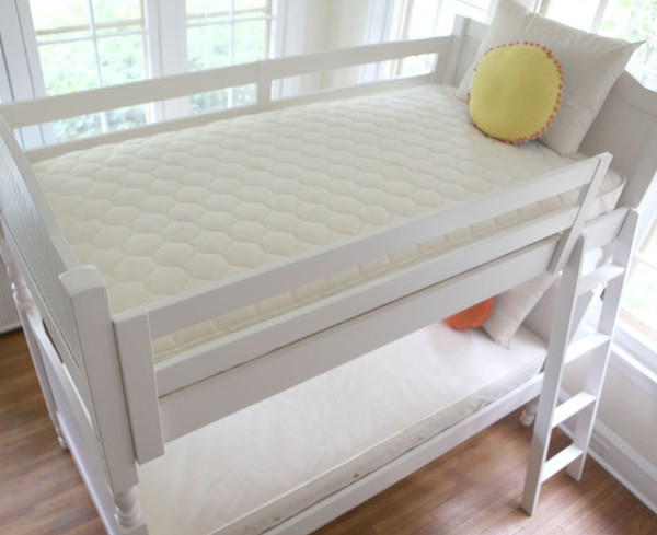 Naturepedic Twin Trundle Organic Cotton 2 In 1 Kids Mattress Quilted  Kids Mattress / Naturepedic Organic Mattresses for Kids / 2 in 1 ...
