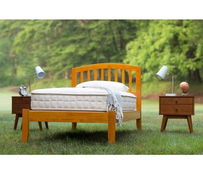 Organic Cotton Mattress with Innersprings Coils Non Toxic