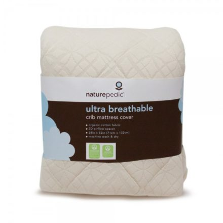 Ultra Breathable Crib Mattress Pad - Crib Fitted 3